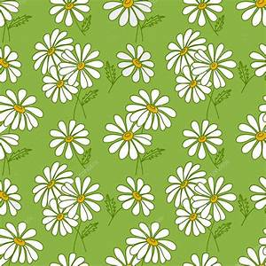 Green seamless daisy pattern. — Stock Vector © Amalga ...