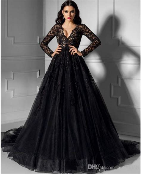 23 romantic and stylish black wedding dresses chicwedd