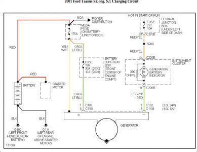 2004 Ford Tauru Se Wiring Diagram by 2001 Ford Taurus Wiring Diagram Alternator Diagram