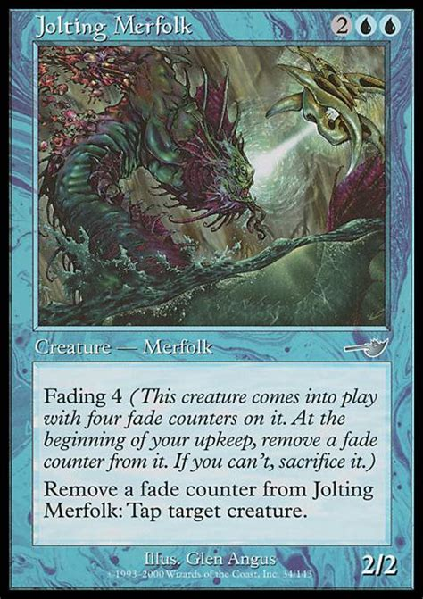 Mtg Merfolk Deck Tapped Out by Jolting Merfolk Mtg Card