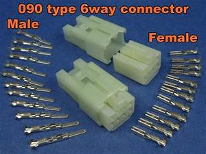 6 Pins Electrical Wire Connector Terminal Socket Plug