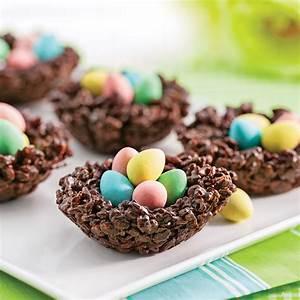 Idee Repas De Paques : petits nids croustillants au chocolat et riz souffl recette avec enfant pinterest dessert ~ Melissatoandfro.com Idées de Décoration