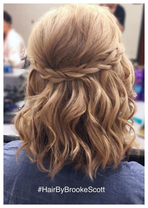 simple braided  updo  short hair   brooke