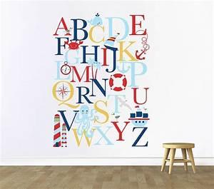 alphabet wall decal alphabet decal nautical nursery With nursery letter decals