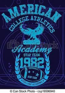 EPS Vector of american college sports vector art ...