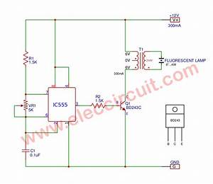 4w 12v Fluorescent Lamp Driver Circuit Using Ic555