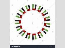 Round Empty Badge Made Uae National Stock Vector 342409451