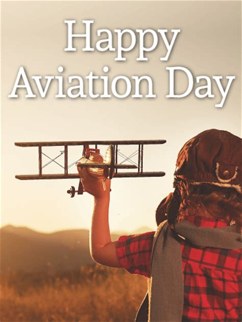 fly  happy aviation day birthday greeting cards