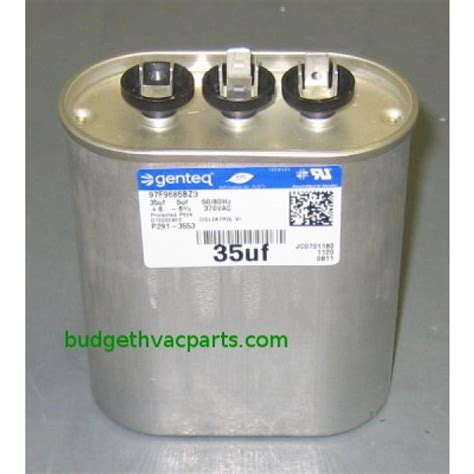 ge water filter carrier dual capacitor p291 3553
