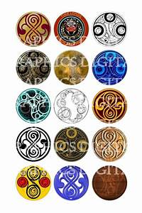 DOCTOR WHO Time Lord Symbol Digital Graphics Colorful Designs