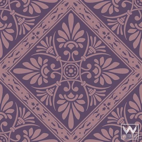 nouveau feather damask removable wallpaper peel and