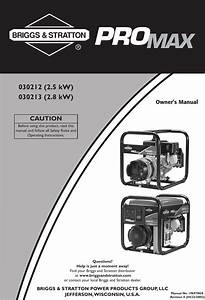 Briggs And Stratton 30212 Users Manual 030212 U0026 39 213 0en