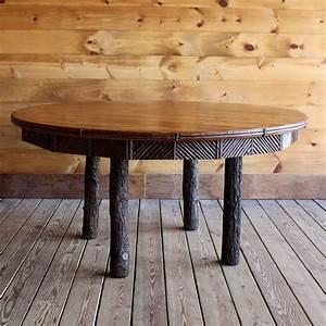 60, U0026quot, Round, Rustic, Dining, Table