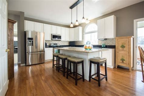 open concept kitchen remodel works