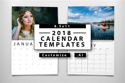 photo calendar template 2018 calendar templates templates creative market