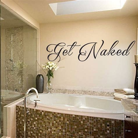 naked bathroom wall decal vinyl wall art quote