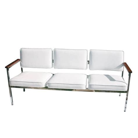 vintage mid century sofa vintage mid century steel case three seat sofa for sale at