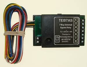 7 way universal by pass towing relay for towbar electrics 12n seven way teb7as ebay