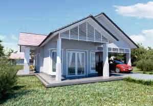 gambar design rumah banglo satu setengah tingkat gambar