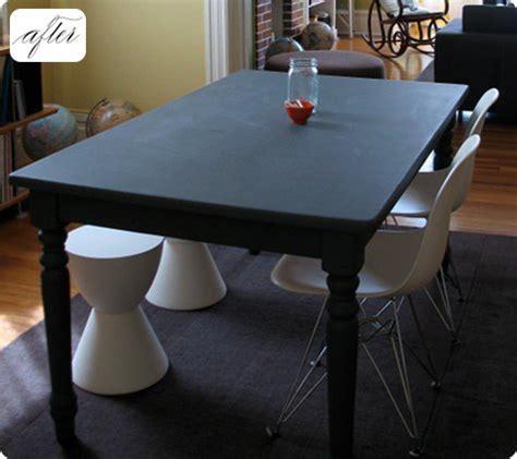 chalkboard paint kitchen table before after kate s chalkboard table design sponge