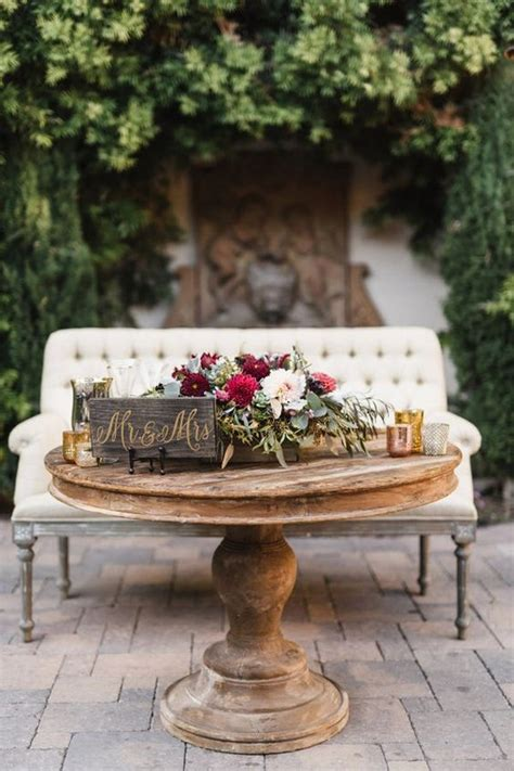vintage wedding sweetheart table decoration ideas