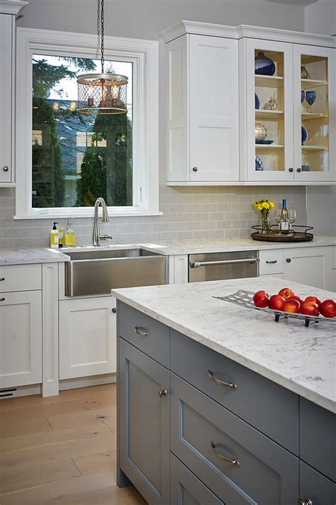 gray kitchen island classic design interior design ideas home bunch 1326