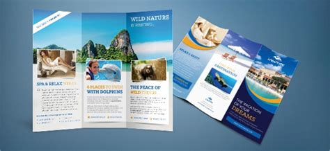 Brochure Photoshop Template by 25 Travel Brochure Templates Free Psd Ai Eps Format