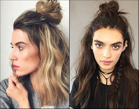 Half Up Half Down Top Knots Best For Summer Time