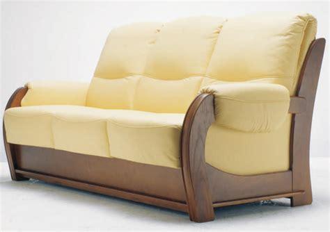 canapé bois design canape en bois et tissu maison design wiblia com