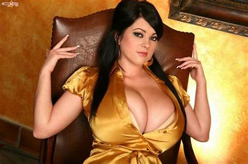 Model In Satin Blouse Is Showing Breasty #This #Yellow #Satin #Blouse #Fits #This #Whore #Perfectly #To #Show