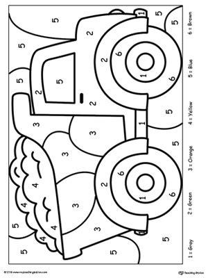 early childhood color  number worksheets