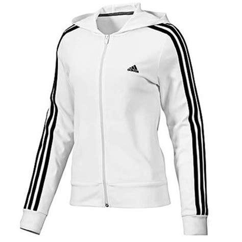 adidas ess 3s hooded jacket wei 223 damen jacke trainingsjacke sweatjacke ebay