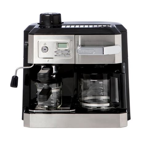 We checked a wide range espresso machines and coffee makers on the market. Shop DeLonghi BCO330T Combination Drip Coffee, Cappucino and Espresso Machine with Programmable ...