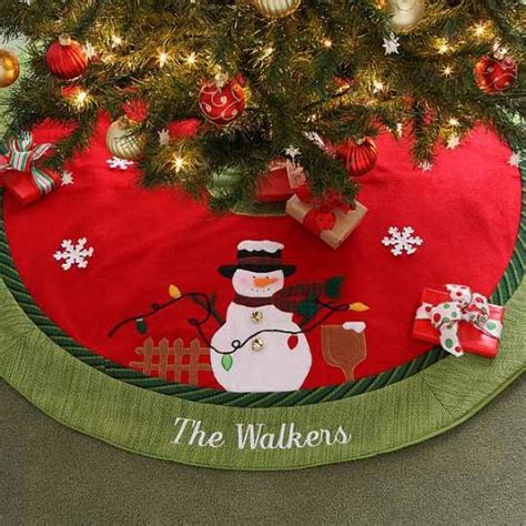 snowman christmas tree skirt pictures reference