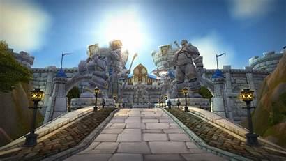 Warcraft 4k Backgrounds Wow Stormwind Virtual Classic