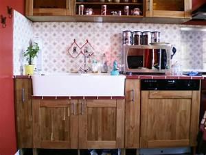 Cuisine En Teck : meuble de cuisine bois 9 id es de d coration int rieure ~ Edinachiropracticcenter.com Idées de Décoration