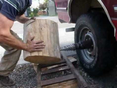 ford   powered death woodsplitter youtube