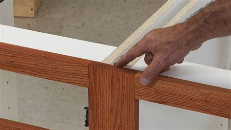 how to attach kitchen cabinets together scribe on a cabinet frame woodworkers guild of america 8500