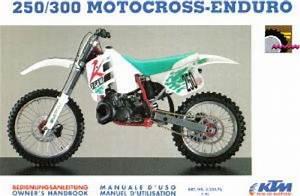 1992 Ktm 250 300 Motocross Enduro Owners Handbook