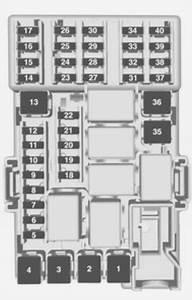 Vauxhall Adam  2014   U2013 Fuse Box Diagram