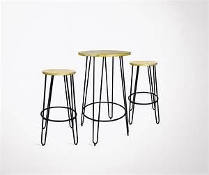 Table Mange Debout Style Industriel : mange debout avec 2 tabourets de bar style industriel scoop redcartel ~ Melissatoandfro.com Idées de Décoration