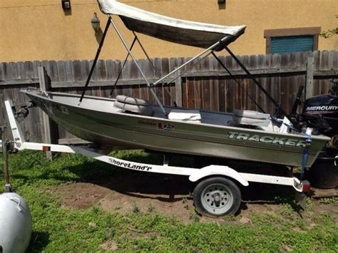 Fishing Boat Motor And Trailer by 12 Ft Tracker Fishing Boat 2006 Trailer And 2014 Mercury