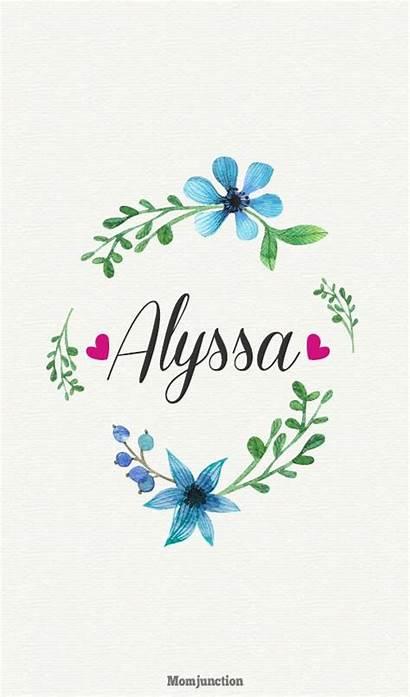 Names Popular Alyssa Meaning Momjunction Hazel Letter