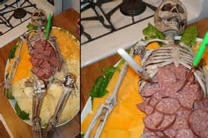 themed serving tray diy skeleton cannibal platter diyhalloweencrafts