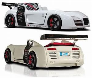 Lit Voiture 90x190 : lit voiture supersport turbo v8 led lit voiture pour ~ Teatrodelosmanantiales.com Idées de Décoration