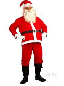 5 piece santa suit set christmas santa claus costume adult one size fit most new ebay