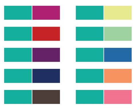 color pairs colors to pair with teal some great ideas for wear teal