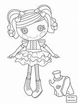 Lalaloopsy Coloring Doll Pages Peanut Rag Printable Mermaid Button Dolls Colouring Sheets Drawing Paper Books sketch template