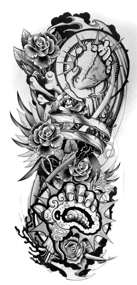 Download Free Sleeve Tattoo Designs Drawings On Paper Design Sleeve Tattoo 2 to use and take to