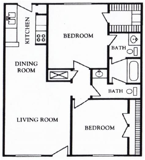 2 Bedroom Apartments 800 by 800 Sq Ft Apartment Floor Plan 3d Architecture 2 Bedroom 2